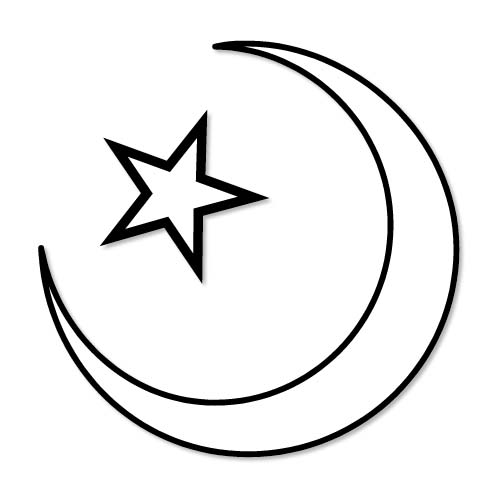 Download crescent, star png icon