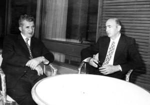Nicolae Ceauşescu e Giorgio Napolitano