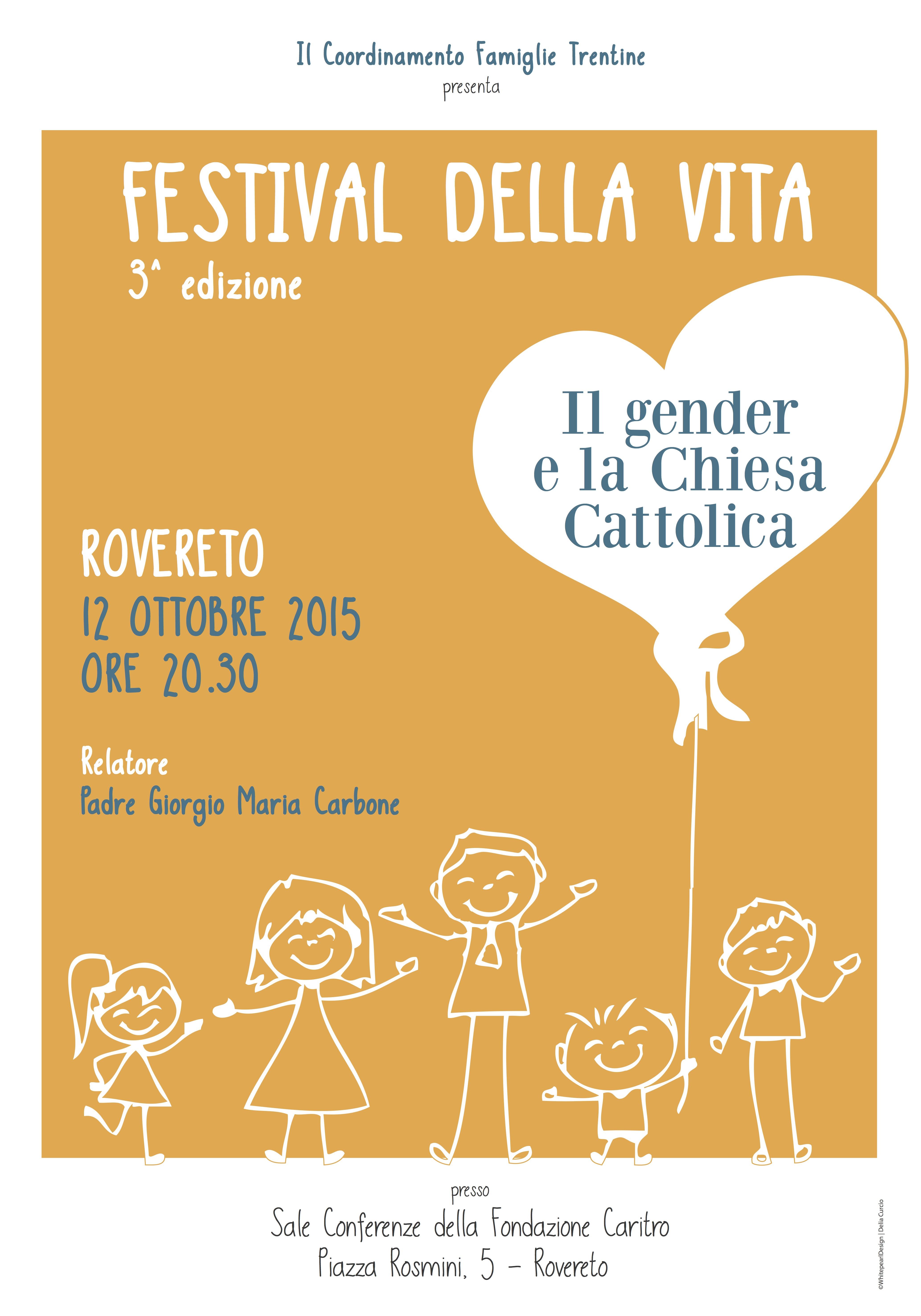Padre Carbone ospite a Rovereto (TN) lunedì 12 ottobre