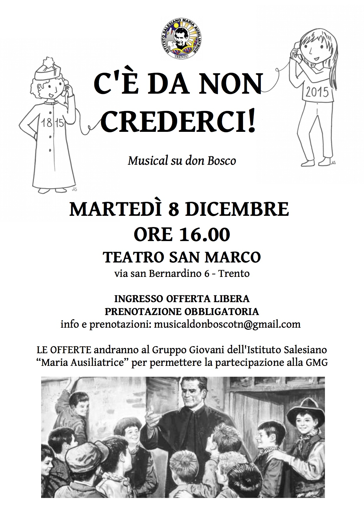 C'è da non crederci – Martedì 8 dicembre a Trento