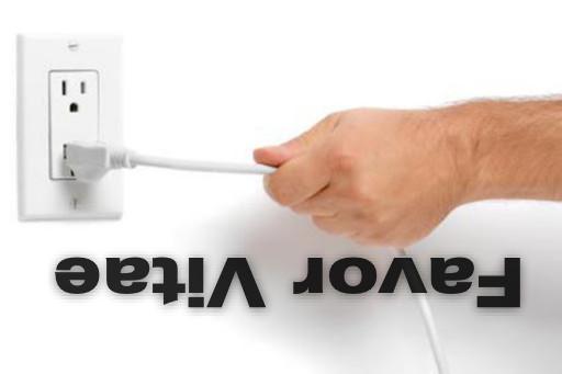 Man yanking electrical cord