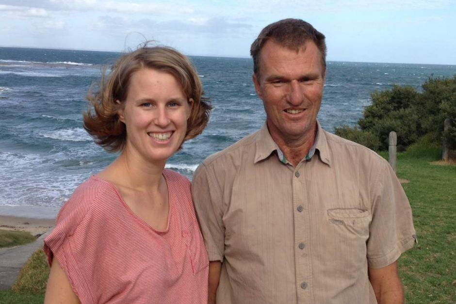 07 Lauren Burns with her biological father Dr Benedict Clark